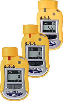 ToxiRAE Pro CO, LEL, and VOC Portable Gas Detector